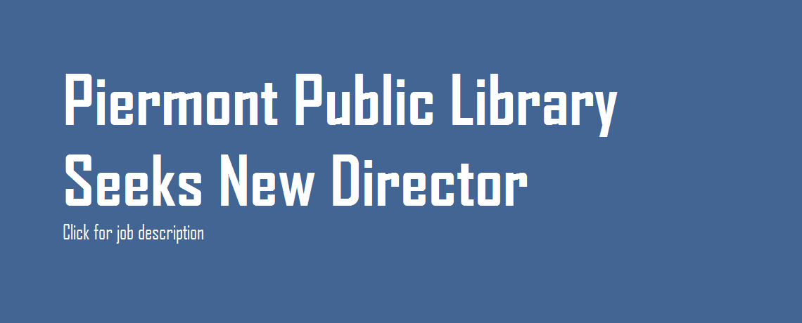 Job Posting: Library Director